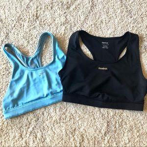 Sports bra bundle - 2 speedo Reebok blue black